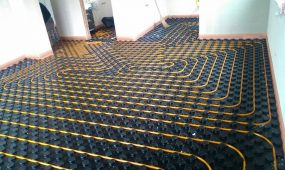Podlahové topení v RD Modřice